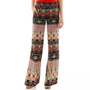 by&by Paisley Print Wide-Leg Pants