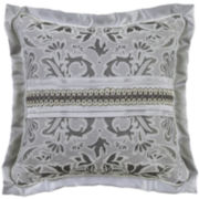 "Croscill Classics® Luxembourg 16"" Square Jacquard Decorative Pillow"