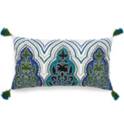 Collier Campbell Pondicherry Oblong Embroidered Decorative Pillow