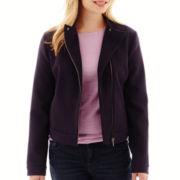 Liz Claiborne® Long-Sleeve Moto Jacket - Petite