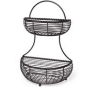 Gourmet Basics by Mikasa® 2-Tier Flat-Back Basket