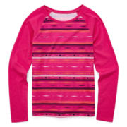 Arizona Long-Sleeve Printed Favorite Tee - Girls 7-16 and Plus