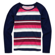 Arizona Long-Sleeve Striped Favorite Tee - Girls 7-16 and Plus