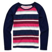 Arizona Long-Sleeve Striped Favorite Tee - Girls 7-16 and Plus