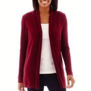 St. John's Bay® Long-Sleeve Flyaway Cardigan