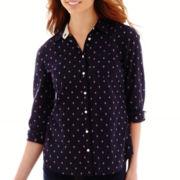 Stylus™ Long-Sleeve Button-Front Shirt