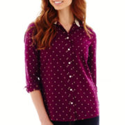 Stylus™ Long-Sleeve Button-Front Shirt