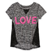 Total Girl® High-Low Sequin Tee - Girls 7-16 and Plus