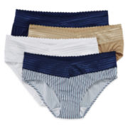 Warner's 4-pk. No Pinching, No Problems. Lace-Trim Hipster Panties - 5609J