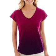 Liz Claiborne® Short-Sleeve Dip Dye T-Shirt