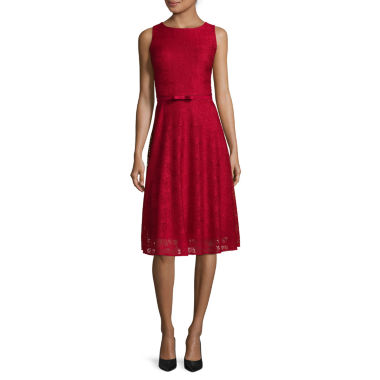 jcpenney.com | Danny & Nicole® Sleeveless Lace Fit and Flare Dress