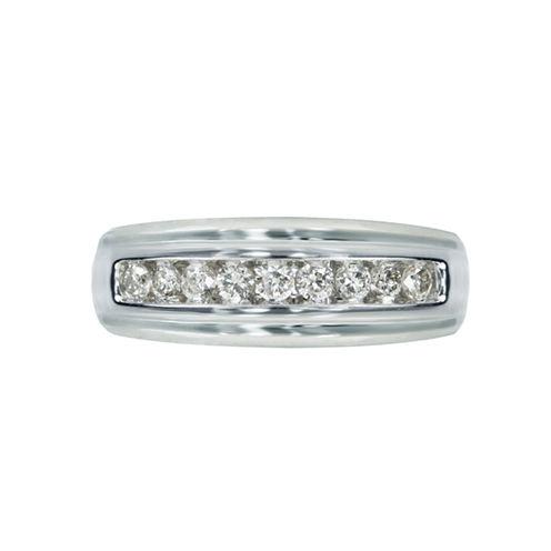 Mens 1/2 CT. T.W. White Diamond 10K Gold Wedding Band