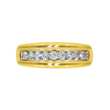 jcpenney.com | Mens 1/2 CT. T.W. White Diamond 10K Gold Wedding Band