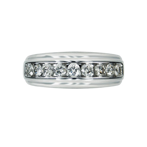 Mens 1 CT. T.W. White Diamond 10K Gold Wedding Band