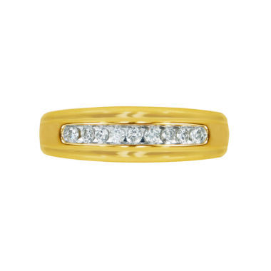 jcpenney.com | Mens 1/4 CT. T.W. White Diamond 10K Gold Wedding Band
