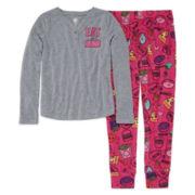 Total Girl® 2-pc. Eat A Lot Sleep A Lot Set - Girls