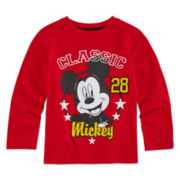 Okie Dokie® Mickey Mouse Long-Sleeve Tee - Toddler Boys 2t-5t