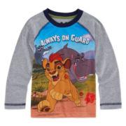 Okie Dokie® Long-Sleeve Lion Guard Raglan Tee - Toddler Boys 2t-5t