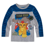 Okie Dokie® Long-Sleeve Lion Guard Colorblock Tee - Toddler Boys 2t-5t