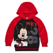 Okie Dokie® Mickey Mouse Long-Sleeve French Terry Hoodie - Toddler Boys 2t-5t