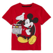Okie Dokie® Mickey Mouse Short-Sleeve Tee - Toddler Boys 2t-5t