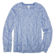 Xersion™ Long-Sleeve Open Back Sweatshirt - Girls 7-16 and Plus