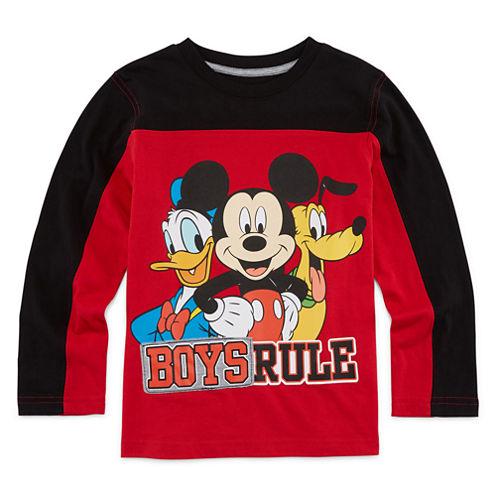 Okie Dokie® Mickey Mouse Long-Sleeve Tee - Preschool Boys 4-7
