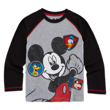 jcpenney.com | Okie Dokie® Mickey Mouse Long-Sleeve Raglan Tee - Preschool Boys 4-7