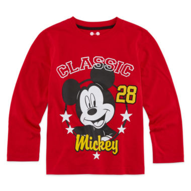 jcpenney.com | Okie Dokie® Mickey Mouse Long-Sleeve Tee - Preschool Boys 4-7