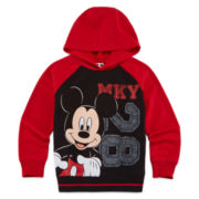 Okie Dokie® Mickey Mouse French Terry Hoodie - Preschool Boys 4-7