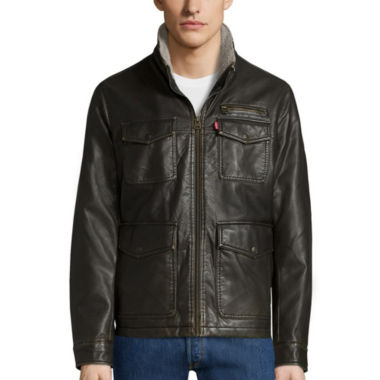 jcpenney.com | Levi's® 4-Pocket Faux-Leather Utility Jacket