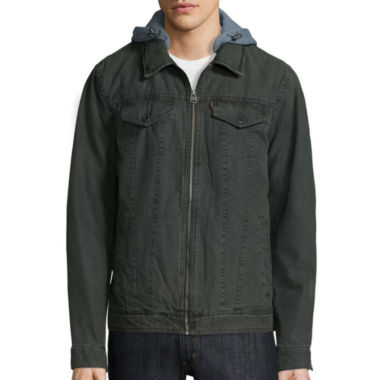 jcpenney.com | Levi's® Hooded Cotton Trucker Jacket