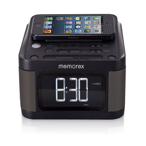 Memorex™ MC8431 Alarm Clock with Dual USB Ports