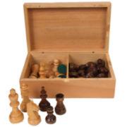 Stauton Wood Chessmen--4.0 King