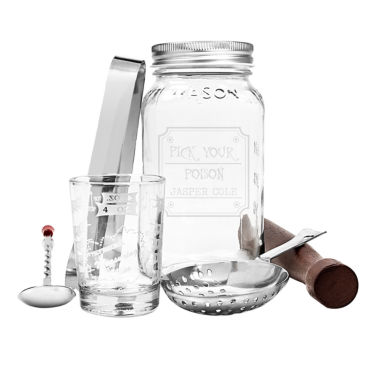 "jcpenney.com | Cathy's Concepts Personalized ""Pick Your Poison"" 6-pc. Mason Jar Mixology Set"