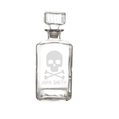 jcpenney.com | Cathy'S Concepts Personalized Skull & Crossbones 34-Oz. Glass Decanter
