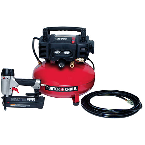 "Porter Cable 2"" Brad Nailer Compressor Combo Kit"