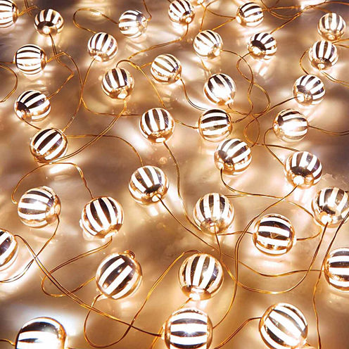 Apothecary Striped Ball 40 Indoor String Lights
