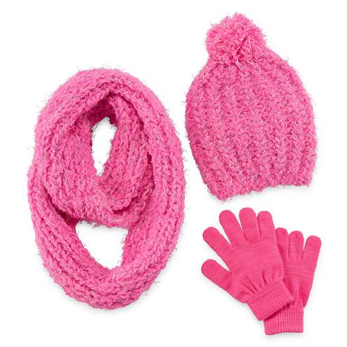 Total Girl Girls 3-pc. Cold Weather Set-Big Kid