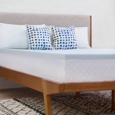 linenspa 2 inch gel memory foam mattress topper - Gel Memory Foam Mattress Topper