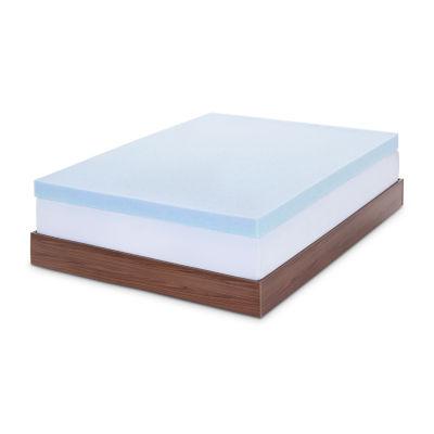 Lucid 4 Inch Gel Memory Foam Mattress Topper JCPenney