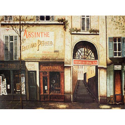 Oriental Furniture Parisian Marketplace Canvas Art