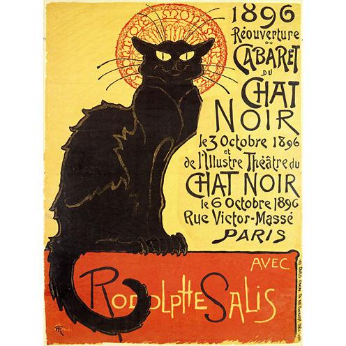 Oriental Furniture Chat Noir Cabaret Canvas Art
