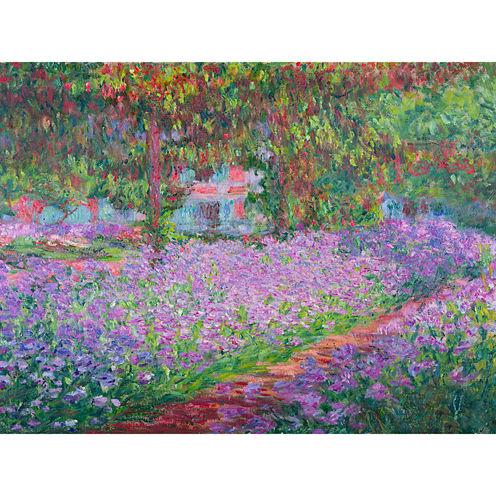 Oriental Furniture Monet'S Garden Canvas Art