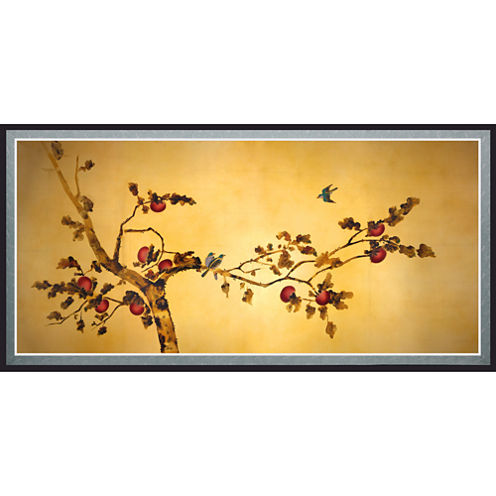 Oriental Furniture Birds On Plum Tree Canvas Art