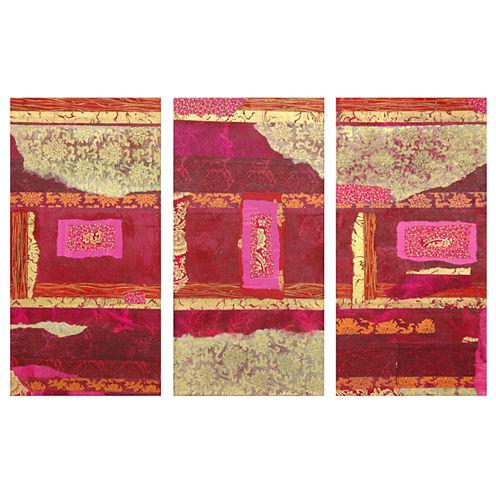 Oriental Furniture Avant-Garde Collage 3-pc. Modern Print