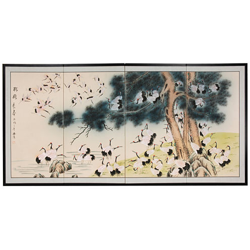 Oriental Furniture Hundred Cranes Print