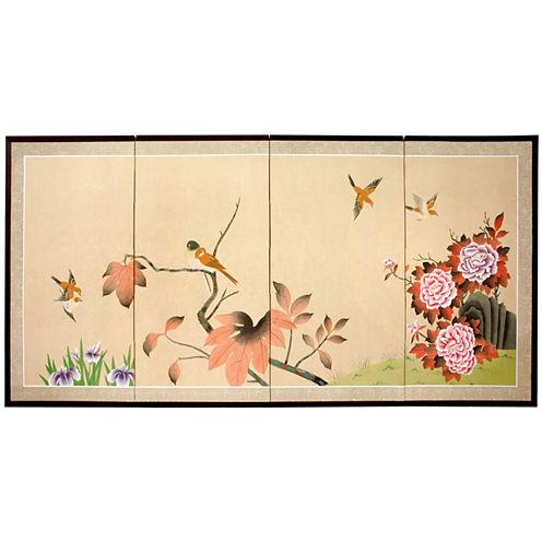 Oriental Furniture Birds On The Tree Print