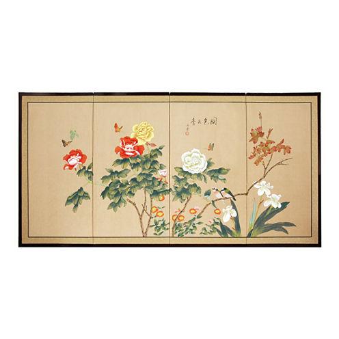 Oriental Furniture Butterflies In The Garden Print