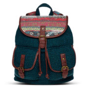 Olsenboye® Mixed Media Sequin-Trim Backpack